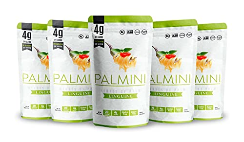 Palmini Low Carb Linguine   4g of Carbs   As Seen On Shark Tank   Hearts of Palm Pasta (12 Ounce - Pack of 6)