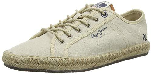 Pepe Jeans Tourist Lamu Linen, Sandalias con cua Tipo Alpargatas Hombre, Beige Crudo 814, 43 EU