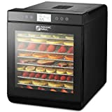 Magic Mill Food Dehydrator Machine - Easy Setup, Digital Adjustable Timer and Temperature Control | Dryer for Jerky, Herb, Meat, Beef, Fruit and To Dry Vegetables | Over Heat Protection | 10 tray