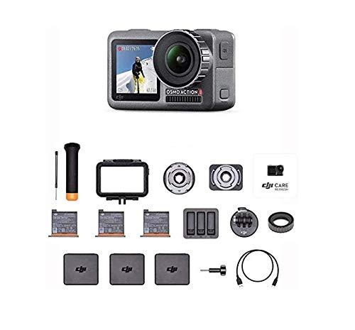 DJI Osmo Action Prime Combo - Camera Digitale con Kit Accessori e Care Refresh, 12MP 1/2.3 CMOS,...