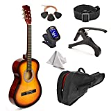 38' Wood Guitar With Case and Accessories for Kids/Boys/Girls/Teens/Beginners (38', Sunburst)