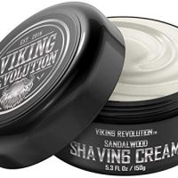 Luxury Shaving Cream for Men- Sandalwood Scent - Soft, Smooth & Silky Shaving Soap - Rich Lather for...