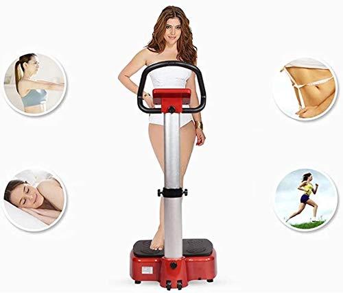 Lamyanran Professional Vibration Platform Exercise Machine, Intelligent Vitality Aerobic Health Exercise Machine, Passive Vibration Fat Reduction Machine, Exercise Equipment (Size : Black red) 2