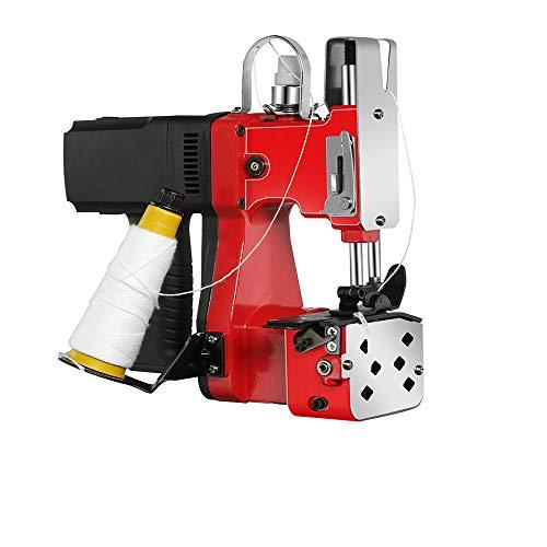 MXBAOHENG Borsa elettrica per macchina da cucire Portatile Sacchetto di chiusura per sacchetti di sacco/tessuto/riso/carta/sacchetti di plastica GK9-890 (rosso)