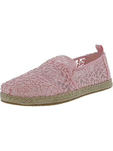 TOMS Women's Deconstructed Alpargata Lace Rope Sole Blossom Leaves Ankle-High Slip-On Shoes - 7M