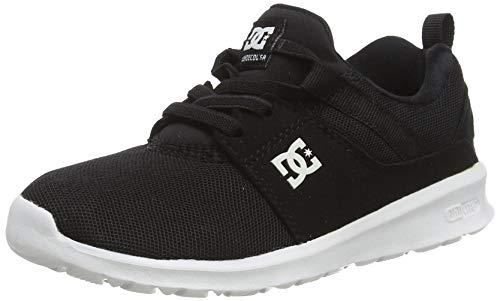 DC Shoes Heathrow B Alpargatas Niños, Negro (Black/White), 34 EU