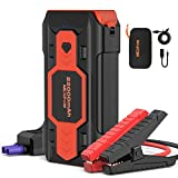 NEXPOW Battery Jump Starter 2500A 22000mAh Car Jump Starter (up to 8.0L Gas/8L Diesel Engines) 12V Car Battery Booster Pack with USB Quick Charge 3.0 and 4 LED Modes Red Blue Warning