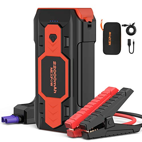 NEX POW Battery Jump Starter 2500A 22000mAh Car Jump Starter (up to...