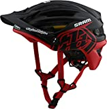 Troy Lee Designs Adult | Trail | All Mountain | Mountain Bike A2 MIPS Decoy SRAM Helmet (MD/LG, Black/Red)