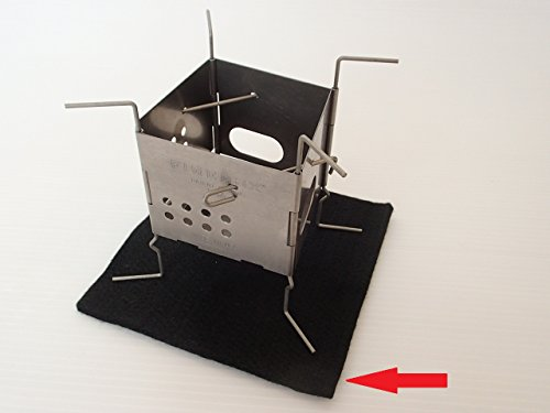 FIREBOX (ファイヤーボックス) カーボンフェルト 3インチ ストーブ 用  アクセサリー 風防としても (ナノ...