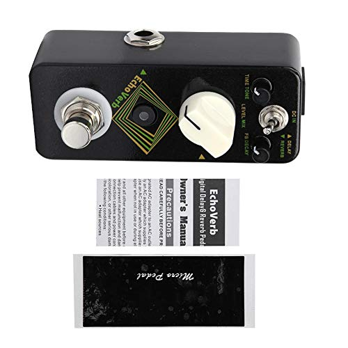 Digital Reverb Guitar Effect Pedal,Guitar Effect Pedal 2 Mode Delay and Reverb Pedal Musical Instrument Supplies