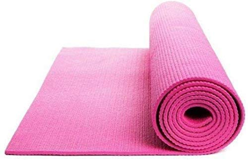 Rinki Home Furnishing Anti Slip Gym & Excercise with Dual Side Embossed for Boy's and Girl's, Men's and Women's 5MM Yoga Mat (Pink)