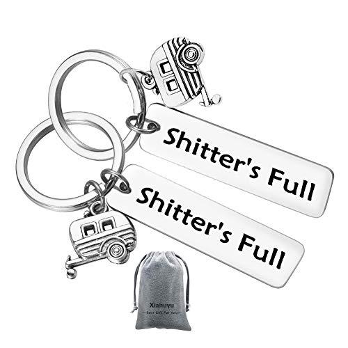 2Pcs Shitter's Full Camper Keychain Happy Camper RV Keychain...