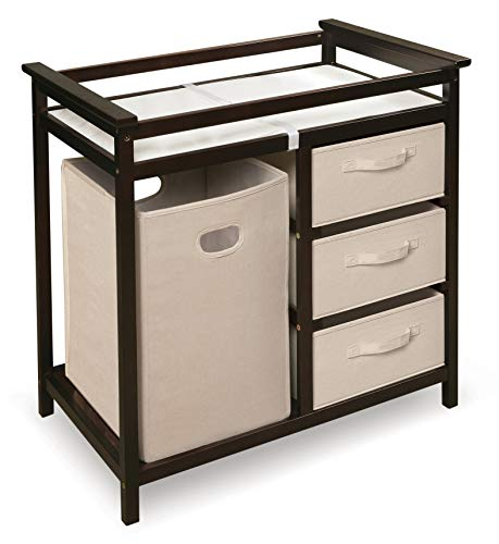 Modern Baby Changing Table with Laundry Hamper, 3...
