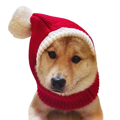 heresell Cappello da Cane di Natale Costume da snoo all'Uncinetto Cappello da Cane Caldo Invernale...