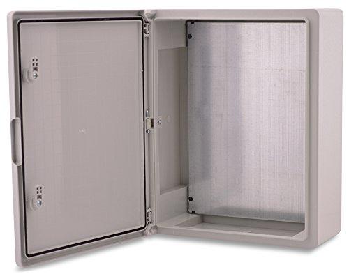 BOXEXPERT Quadro elettrico a parete scatola armadio 500x350x190mm IP 65 grigio RAL7035 scatola...