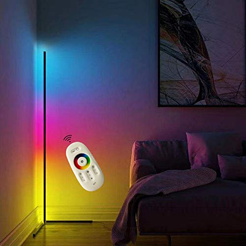 XMAGG LED Stehlampe Dimmbar mit Fernbedienung 20W Stehleuchte für Wohnzimmer Schlafzimmer Farbwechsel Lichtsaeule RGB Farbtemperaturen und Helligkeit Stufenlos Dimmbar