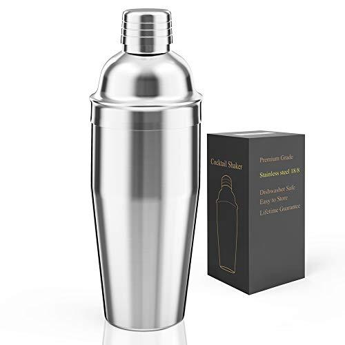 LUCKYGOOBO Cocktail Shaker,24 oz Martini Shaker,18/8 grade Stainless Steel