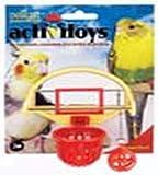 JW Pet Company Activitoys Birdie Basketball Bird Toy