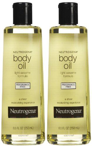Neutrogena Body Oil, Fragrance Free, 8.5 oz, 2 pk