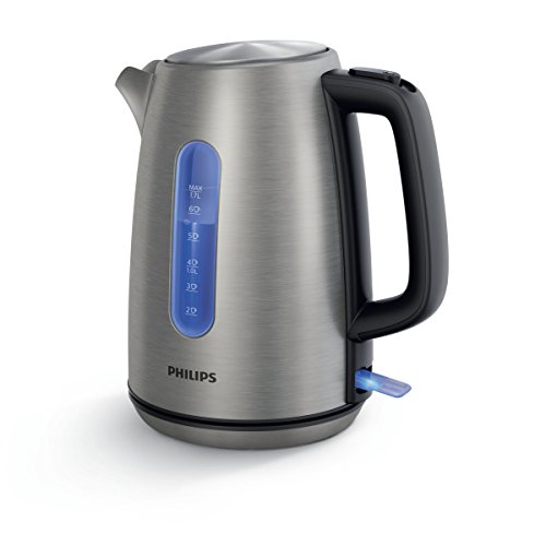 Philips HD9357/10–Hervidor de agua, 1,7l, 2200W, acero inoxidable