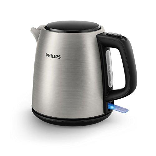 Philips HD9348/10 - Hervidor eléctrico, acero inoxidable, 1L, 2000W