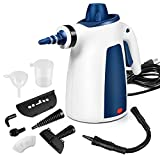 Steam Cleaner, Portable Car Carpet Upholstery Cleaner Machine High Pressure Steamer with 9 Piece Accessories for Cleaning, Couch/Floor/Bathroom/Auto/Grout Cleaner for Home Use, Handheld Steamer
