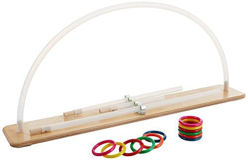 Rolyan Graded ROM Arc, Wood Base & Plastic Tube with 12 Rings, Range of Motion Exerciser