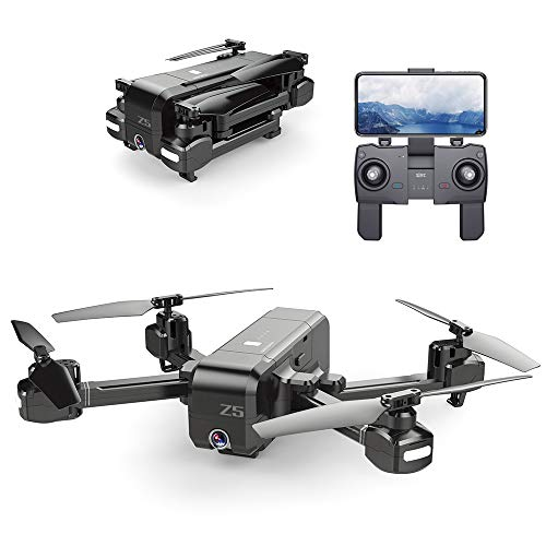 Walmeck- SJ R / C Z5 1080P Telecamera grandangolare WiFi FPV Drone GPS Ritorno Automatico Seguimi Gesto Foto RC Quadcopter