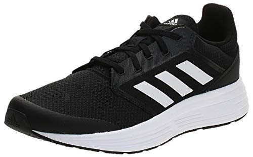 adidas Galaxy 5, Running Shoe Hombre, Core Black/Footwear White/Footwear White, 43 1/3 EU