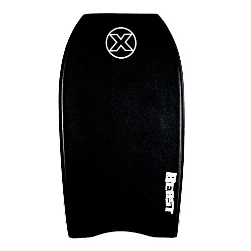 Custom X Beast Big Guy Bodyboard | Larger Riders | Big Bodyboard for The Biggest Riders | 42 Inch | Black Deck, Navy Rails, White Bottom