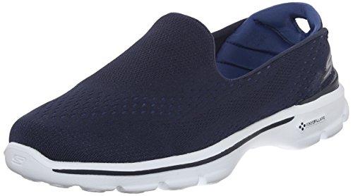 Skechers Women GO Walk 3-Dominate Navy/Blue Walking Shoes-5 UK (14050-NVBL)