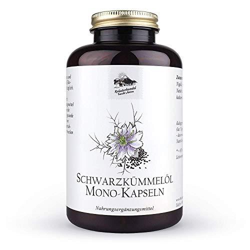 KRÄUTERHANDEL SANKT ANTON® - Schwarzkümmelöl Kapseln - Hochdosiert - Vitamin E - Deutsche Premium Qualität (400 Kapseln)
