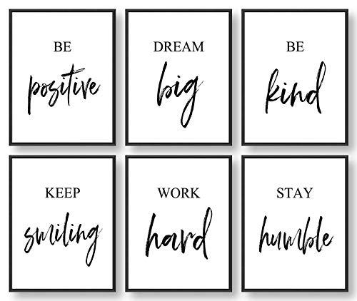 Inspirational Wall Art, Motivational Wall Art, Office Wall Decor,...
