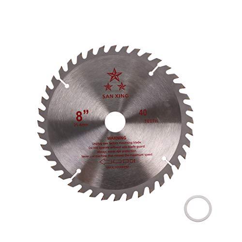 JOYKK 8'40T Denti in Metallo Duro Lama per Sega per decespugliatore Trimmer Diametro Foro 25,4mm -...