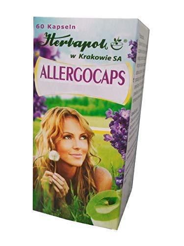 Allergocaps - bekämpfen natürlich effektiv Allergie jeder Art, mit Extrakt aus Perilla Samen, natürliches Mittel bei Pollen-, Milben- Nahrungsmittelallergie, Katzenhaare, Tierhaare Allergie, Heuschnupfen, 60 Kapseln, ersetzen Allergietabletten, Allergie Nasenspray, augentropfen