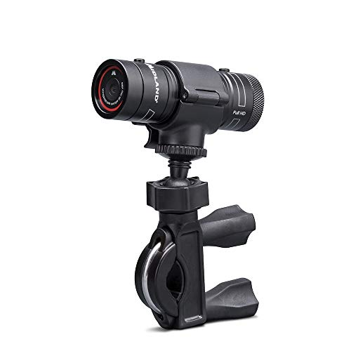 Midland Bike Guardian Dash Cam Telecamera, Video Camera da Moto Full HD, con Cycle Recording, Grandangolo 120°, Restistente a Pioggia, Con Supporto per Manubrio e Cavo USB