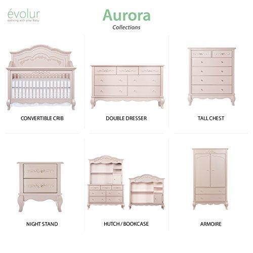Product Image 9: Evolur Aurora 5-in-1 Convertible Crib, Blush Pink Pearl