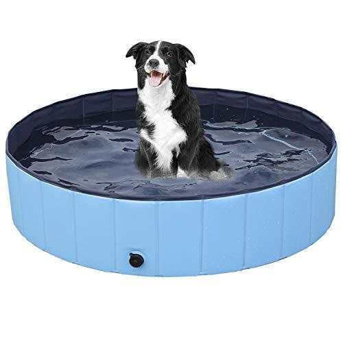 Yaheetech Hundepool Swimmingpool Planschbecken Badewanne Wasserbecken für Hunde 100 x 30 cm