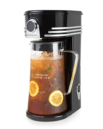 Nostalgia CI3BK Iced Coffee Maker and Tea Brewing System,...