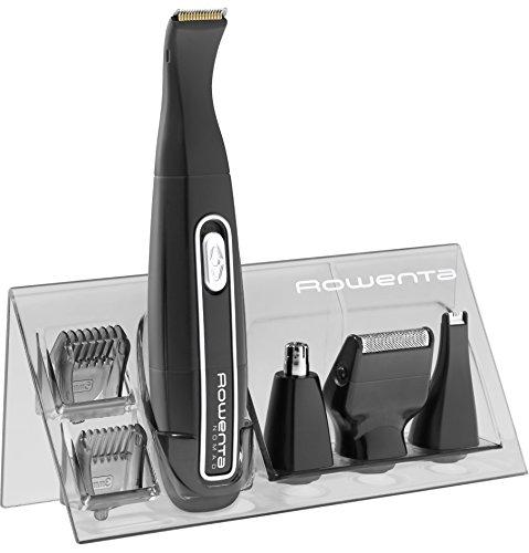 Rowenta TN3650 Nomad Mini Grooming Kit, Rifinitore e Regolabarba, per Naso e Orecchie, Wet&Dry, batteria