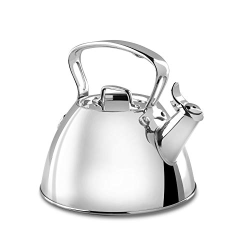 All-Clad E86199 Stainless Steel Tea Kettle, 2-Quart, Silver