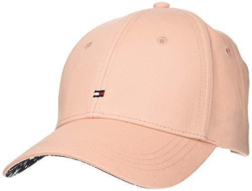 Tommy Hilfiger Damen BB Print Baseball Cap, Rosa (Coral Cloud 663), One Size (Herstellergröße: OS)