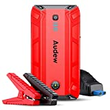 Audew Jump Starter, 1500A Peak 18000mAh Portable Jump Starter (Up to 8L Gas or 6.0L Diesel Engine), 12V Auto Battery Booster with Quick Charge, Built-in LED Light