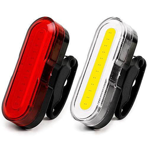 SUNYON Luci Bicicletta LED Ricaricabili USB, Luce Bici Anteriore e Posteriore Super Luminoso Luce Bici LED Sicurezza Stradale per Luci Notturne di Avvertimento Set