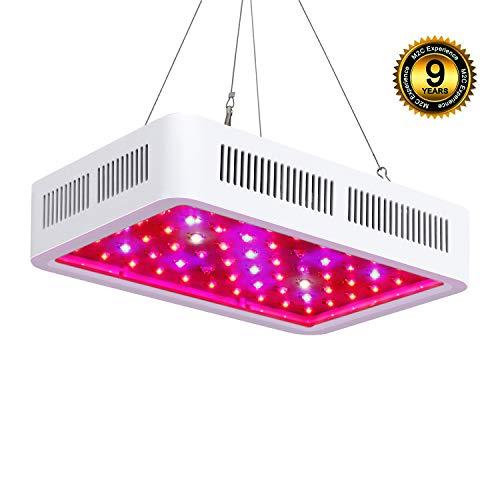 LED Pflanzenlampe,Roleadro 300W Pflanzenlicht Vollspektrum Pflanzenleuchte LED Grow Light für Zimmerpflanzen für Innen Samen Knospe Pflanze Gemüse und Blume Wachstumslampe