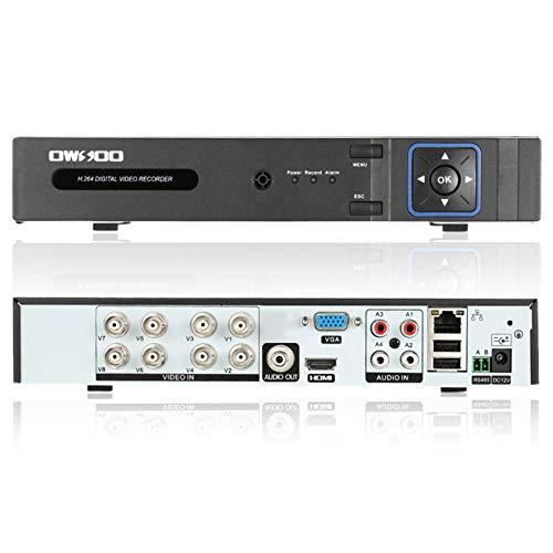 OWSOO 8CH H.264 1080P P2P Red DVR CCTV Seguridad Control de teléfono Correo electrónico Alarma de detección de movimiento para cámara de vigilancia1