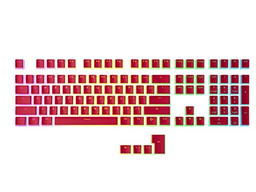 HK Gaming 108 Double Shot PBT Pudding Keycaps Ansi/ISO - OEM Profile Pudding Keyset 60% / 87 TKL /...