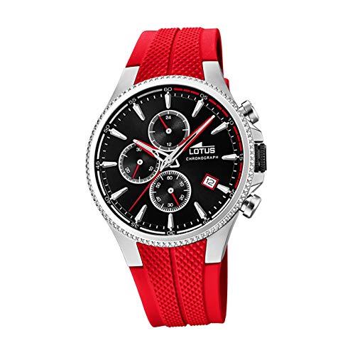 Lotus Herren Chronograph Quarz Uhr mit Gummi Armband 18621/6