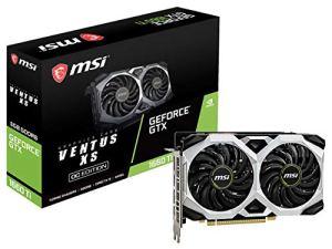 MSI Gaming GeForce GTX 1660 Ti 192-bit HDMI/DP 6GB GDRR6 HDCP Support DirectX 12 Dual Fan VR Ready OC Graphics Card (GTX 1660 TI Ventus XS 6G OC)